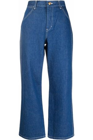 Tory Burch Cropped-Jeans mit hohem Bund