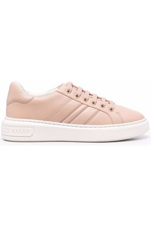 Bally Mandy panelled leather sneakers