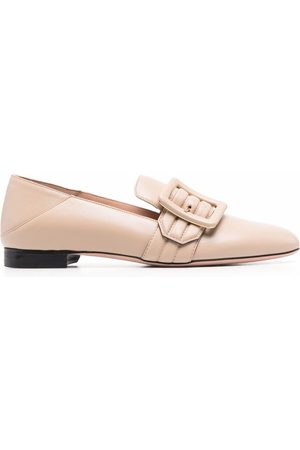 Bally Janelle buckled leather loafers - Nude