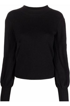 Chloé Damen Strickpullover - Pullover mit Puffärmeln
