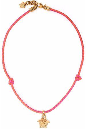 VERSACE Geflochtene Halskette mit Medusa-Anhänger