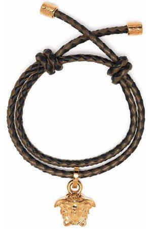 VERSACE Herren Armbänder - Geflochtenes Armband mit Medusa-Anhänger
