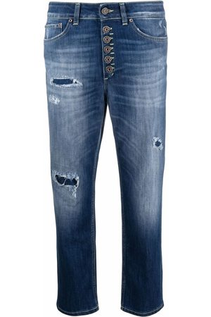 Dondup Cropped-Jeans im Distressed-Look