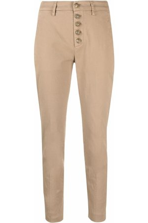 Dondup Schmale Cropped-Hose - Nude