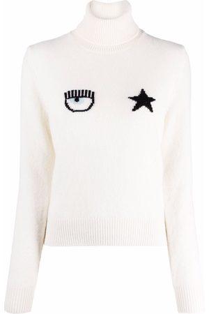 Chiara Ferragni Eyestar intarsia-knit jumper
