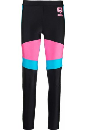 Chiara Ferragni Panelled logo-patch leggings