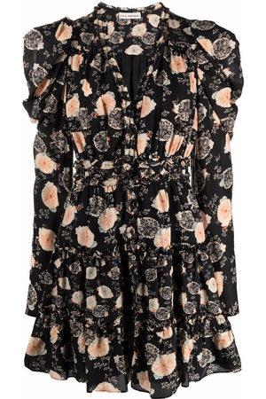 ULLA JOHNSON Floral-print ruffle mini dress