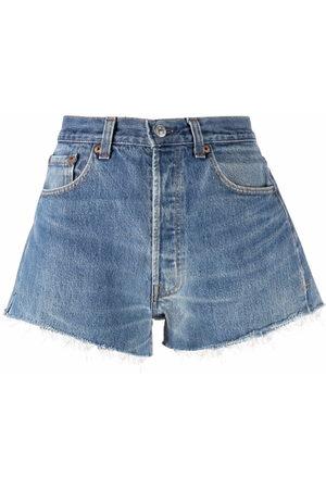 RE/DONE Damen Shorts - Jeans-Shorts mit ungesäumten Kanten