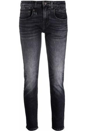R13 Tief sitzende Cropped-Jeans