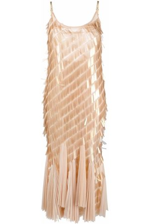 Atu Body Couture Spaghettikleid mit Pailletten - Nude
