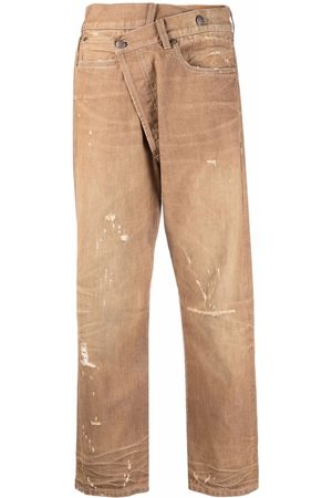 R13 Jeans mit Muster - Nude