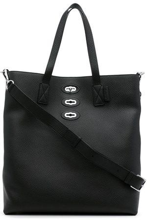 MULBERRY Herren Handtaschen - Pebble-leather twist-lock tote