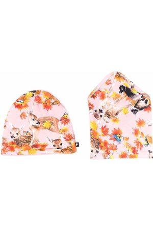 Molo Kids Mütze mit Blumen-Print