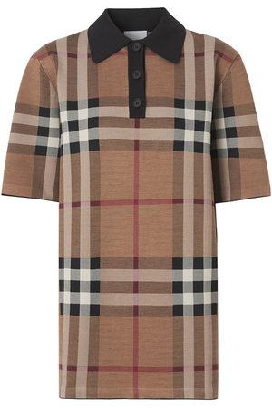 Burberry Vintage Check silk-blend polo shirt