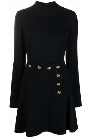 Giambattista Valli Button-embellished flared dress