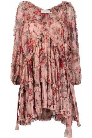 ZIMMERMANN Kleid mit Rüschen