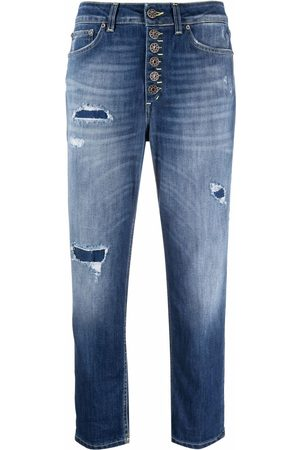 Dondup Damen Cropped - Cropped-Jeans im Distressed-Look