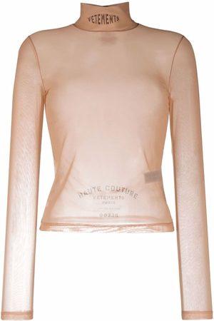 Vetements Damen Shirts - Oberteil mit Stehkragen - Nude