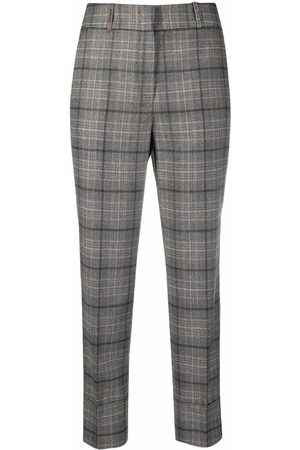 PESERICO SIGN Damen Capris - Plaid-check cropped trousers