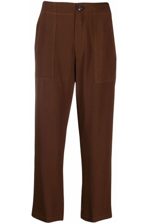 SEMICOUTURE Cropped straight-leg trousers