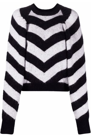 ROTATE Chevron-knit jumper