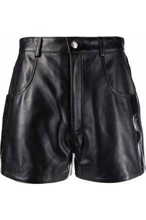 Manokhi Damen Shorts - High-waisted leather shorts