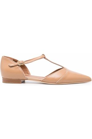 MALONE SOULIERS Ankle-strap ballerina shoes - Nude