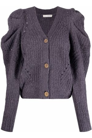 ULLA JOHNSON Puff-sleeved knit cardigan