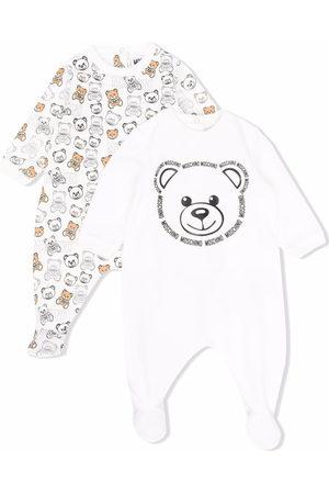 Moschino Kids Pyjama mit Teddy-Print