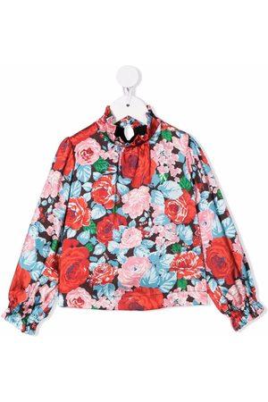Msgm Floral-print ruffled shirt