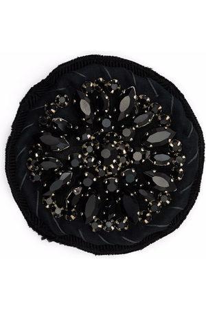 Prada Crystal-embellished circle brooch