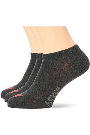 Levi's Unisex Low Cut Batwing Logo Socken, Anthrazit Melange/