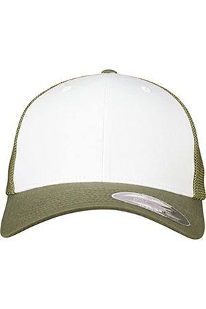 Flexfit Mesh Colored Front Unisex Kappe für Damen und Herren, Mehrfarbig (buck/White)