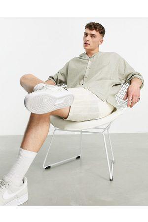 ASOS – Oversize-Leinenhemd mit Reverskragen und überschnittenen Schultern in