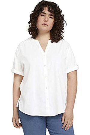 TOM TAILOR Damen 1025945 Plussize Basic Bluse, 10315-Whisper White