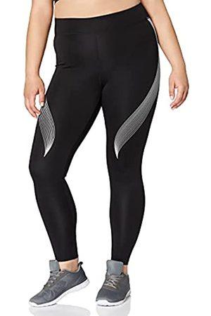 AURIQUE Amazon-Marke: Damen Sportleggings mit Print, (Black/White), 36