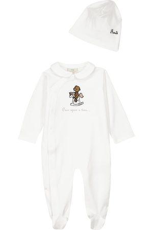 Fendi Baby Set aus Strampler und Mütze