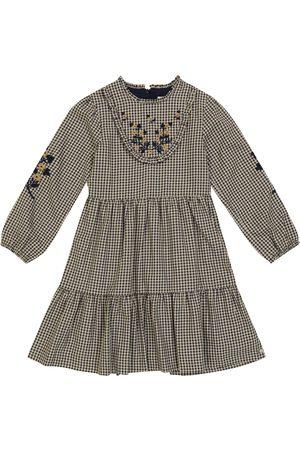 Tartine Et Chocolat Besticktes Kleid aus Stretch-Baumwolle