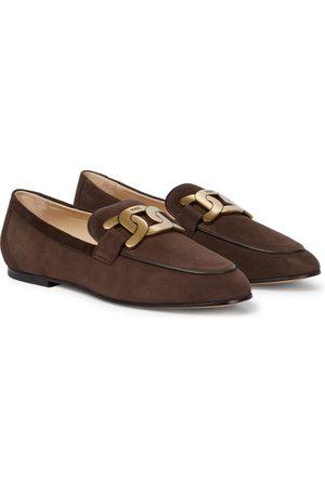 Tod's Loafers Catena aus Veloursleder