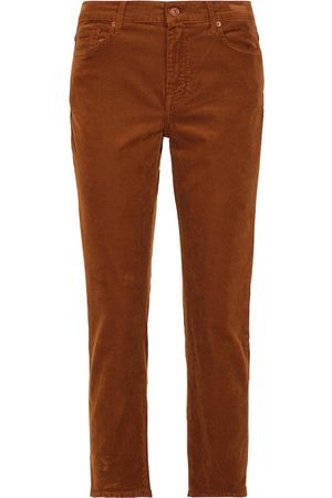 7 for all Mankind Mid-Rise Jeans The Straight Crop aus Cord