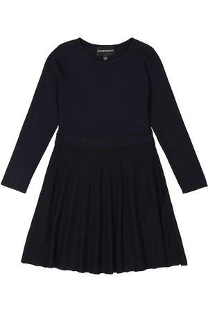 Emporio Armani Mädchen Freizeitkleider - Plissiertes Jerseykleid