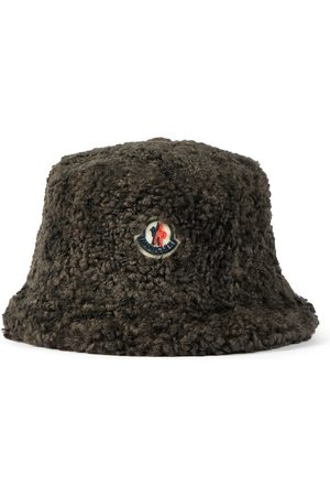 Moncler Hut aus Shearling-Imitat mit Logo