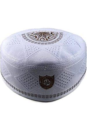 Alwee ALW002 Herren Muslim Gebetsmütze Kopfschmuck Totenkopf Cap Islam Kufi Schwarz - - 56 cm