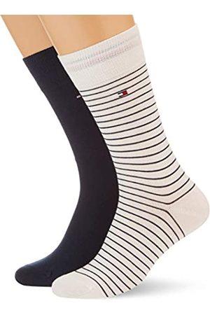 Tommy Hilfiger Mens Small Stripe Men's (2 Pack) Socks