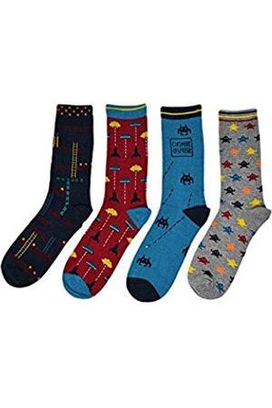 Thought Herren Arcade-Spiele Bambus und Bio-Baumwolle Geschenkbox Socken Packung mit 4 40-43