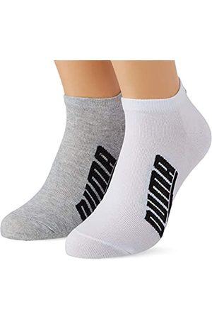 PUMA Unisex-Adult BWT Lifestyle Sneaker-Trainer (2 Pack) Socks, White/Grey/Black