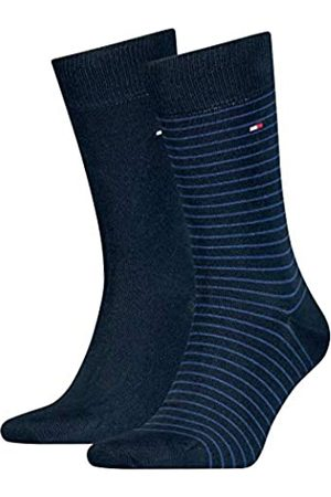 Tommy Hilfiger Kleine Streifen Herren Socken (2er Pack),tommy blue