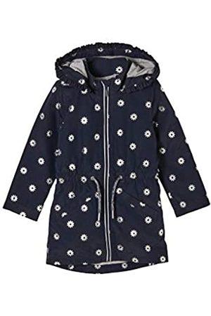 s.Oliver Mädchen Westen - Mädchen Wetterfester Mantel mit Jerseyfutter dark blue AOP 104