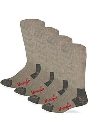 Wrangler Herren Men's Non-Binding Boot Work Cotton Cushion Smooth Toe Pair Pack Riggs Socken, für Stiefel, Arbeitssocken, Baumwolle, Kissen, Glatte Zehen, 4 Paar, Größe L