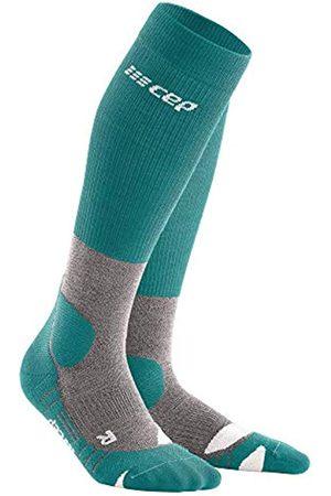 CEP – HIKING MERINO SOCKS REDESIGN für Herren | Knielange Wandersocken mit Kompression in Forestgreen / Grey | Größe IV